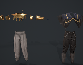 2 types of clothes for Game dev 3D model