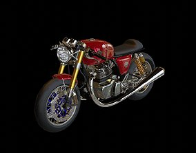 Royal Enfinld GT650 Twin Cuttom Cafe Racer 3D