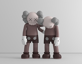 Along the way - by Kaws - 3 colors - 3D model