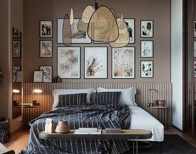 3D Vienna straw bedroom interior scene