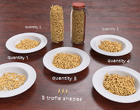 Trofie - fresh hand made pasta 3D model