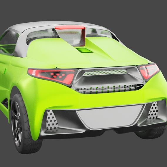 model in blender honda s660 and render test