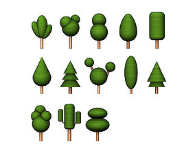 3D printable model Simplified tree designs