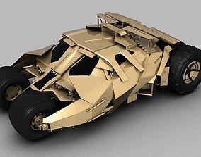 3D asset BAT MAN Tumbler CAR