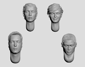 Set of printable heads nation