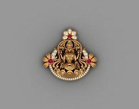 laxmi bhagwan with flower 3D printable model lakshmi