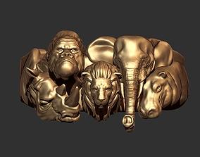 Jungle Ring 3D print model