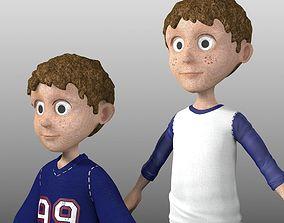 3D model Cartoon Child Set of 2