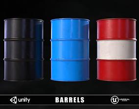 3D model realtime Barrels energy