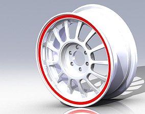 Wheel with rim 3D model