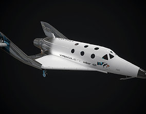 3D asset Virgin galactic spaceship