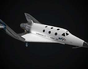 3D model Virgin galactic spaceship