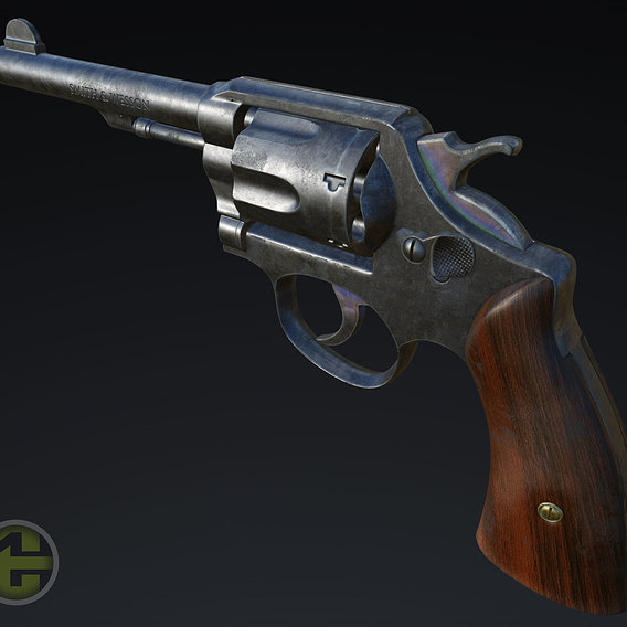Revolver high poly Smith and Wession MP Victory model