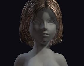 3D asset beauty hair