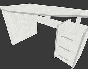 Grey desk 3D asset