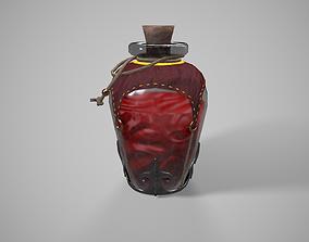 Lowpoly Healing Potion Bottle 3D model