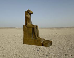 3D asset CGI - EGYPTIAN STATUE OF THE RAM HEADED GOD AMON