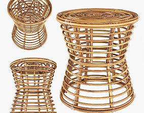 Wicker coffe table 3D model
