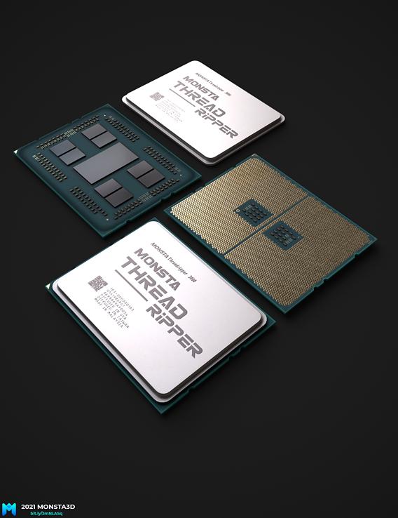 AMD Ryzen Thread Ripper ( removable heatsink ) game asset