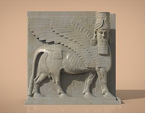Assyrian Human headed winged bull 3D print model