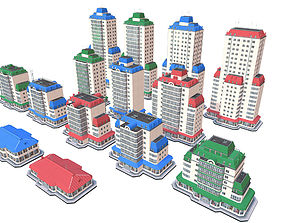 Cyty Appartment Buildings Pack 3D model