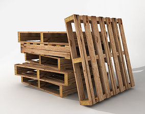 Low poly wood pallet for games and VR 3D asset realtime