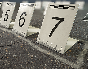 3D model Crime Scenes - Signs and Marks