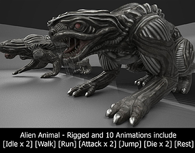 Alien Animal Rigged and Animated 3D asset