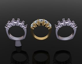 3D print model 5 STONE ENGAGEMEN BAND RING 5MM