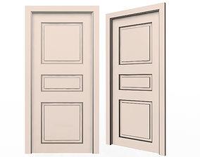 Carved Door Classic 06 3D model