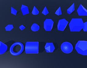 3D Shapes low-poly