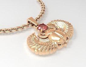 3D print model Jewelry Scarab