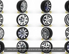3D ORTAS CAR WHEEL RIM 91-92-93-94-95 GAME READY WHEEL