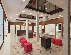 3D model boutique interior 2
