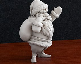 3D print model Santa Claus Christmas present