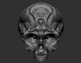 Voodoo Ornamental Skull - High detailed 3D