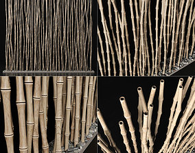 Bamboo thin branch decor n3 3D