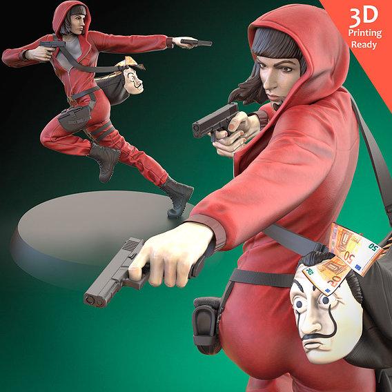 LaCasaDePapel Tokyo 3D printing ready fanart