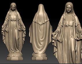 Virgin Mary 3D printable model holy