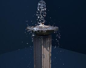 3D model Plinth Fountain 6 Realflow Scene