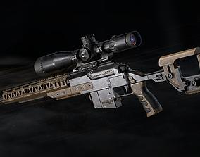 PMS aKrapovS4 Sniper Rifle - Model and Textures 3D asset
