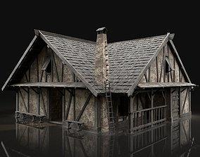 ENTERABLE AAA NEXT GEN MEDIEVAL CITY TOWN HOUSE 3D model