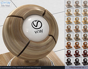 Architectural Vray materials for 3ds Max - Wood