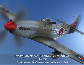 3D model North American P51K Mustang MKIV - Anita - RAAF