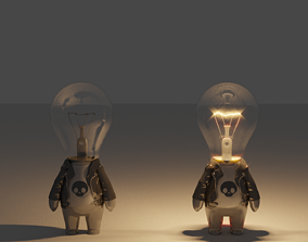 Bulb Boy 3D asset