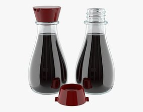 Soy sauce in a bottle 01 3D model PBR