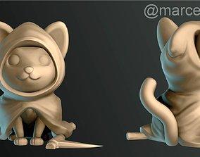 Halloween Cat Reaper 3D print model