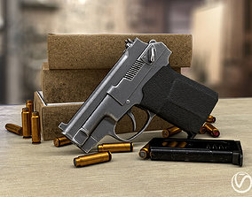 Russian special silent pistol PSS game model game-ready