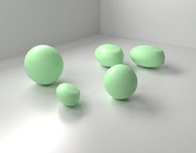 3D Mint Chocolate Drop
