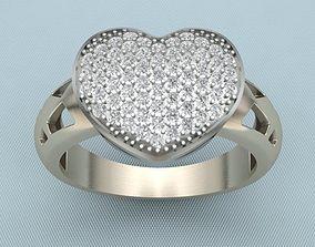 Ring Heart QQ 3D print model